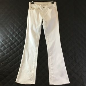7 For All Mankind Womens Off-White Bootcut Jeans